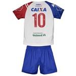 Kit Infantil Jogo 1 Bahia 2017 Umbro Branco/azul