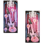 Kit Instrumento Musical Infantil Rock Star Girl com 5 Pecas Colors na Cartela