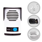 Kit Interfone Porteiro Eletrônico AGL e Fechadura Elétrica 12 Volts 20 Metros de Cabo