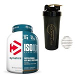 Kit ISO 100 Hydrolyzed 2.3kg Chocolate + Coqueteleira 600ml com Mola