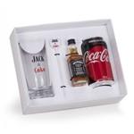 Kit Jack & Coke com Whisky Jack Daniel's 50ml + Coca Cola 350ml + Copo Personalizado + Mexedor (SQ17664)