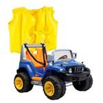 Kit Jeep 2 Crianças Off Road A18 Azul 933202 Belfix + Colete Boia Inflável Infan