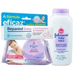 Kit Johnsons Baby Hora do Sono 96 Lenços+talco +bepantol 30g