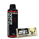 Kit Kfit L-carnitine 2300 Abacaxi Best Whey Protein Ball Chocolate Branco