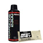 Kit Kfit L-carnitine 2300 Abacaxi Best Whey Protein Ball Duo