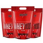 Kit Kfit 3x Super Whey 100% Pure Baunilha