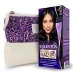 Kit Koleston Retoque de Raiz 20 Preto Azulado + Necessaire Estampa Gota