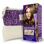 Kit Koleston Retoque de Raiz 70 Louro Médio + Necessaire Estampa Gota