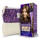 Kit Koleston Retoque de Raiz 71 Cinza Médio + Necessaire Estampa Gota