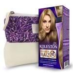 Kit Koleston Retoque de Raiz 80 Louro Claro + Necessaire Estampa Gota