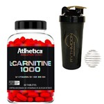Kit L Carnitine 1000 60 Caps + Coqueteleira 600ml com Mola