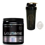 Kit L-GLUTAMINE 300G + Coqueteleira 600ml com Mola