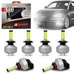 Kit Lâmpadas Led Altezza Audi A1 11 a 18 H7 e H11 6500k 12v 3000 Lúmens Faróis Alto Baixo Milha