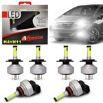 Kit Lâmpadas Led Altezza Honda Fit 03 a 19 H4 e H11 6500k 12v 3000 Lúmens Faróis Alto Baixo Milha