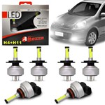 Kit Lâmpadas Led Altezza Nissan March 11 a 19 H4 e H11 6500k 12v 3000 Lúmens Faróis Alto Baixo Milha