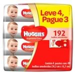 Kit Lenços Umedecidos Huggies Supreme Care 4 Unidades