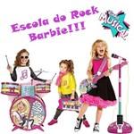 Kit Linha Musical da Barbie - Bateria + Microfone + Guitarra e Teclado
