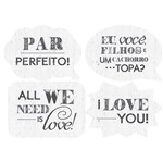 Kit Linha Selfie Litoarte LLS-003 30,5x22cm com 4 Folhas Diferentes All We Need Is Love