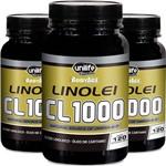 Kit 3 Linolei Cl 1000 Óleo de Cártamo Unilife 120 Cápsulas