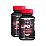 Kit 2 Lipo 6 Black Ultra Concentrado - 60 Cápsulas - Nutrex