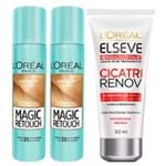 Kit L'Oréal Paris Magic Retouch (Leave-in Grátis) (3 Produtos) Loiro Claro