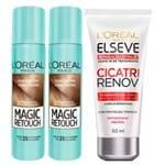 Kit L'Oréal Paris Magic Retouch (Leave-in Grátis) (3 Produtos) Loiro Escuro