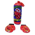 Kit Luva de Boxe Infantil Super Boxing com Saco de Pancadas