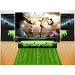 Kit Luxo Futebol - 3 Painel de Festa + Saia de Mesa + Tapete