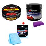 Kit 3M Cera Super Protetora Paste Wax + Pasta Abrasiva + Pano Ultra Perfomance