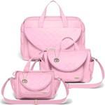 Kit 3 Malas Maternidade Missoni Rosa - Classic For Baby Bags
