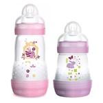 Kit Mamadeiras First Bottle Anti-cólica e Auto-esterilizável Menina - Mam