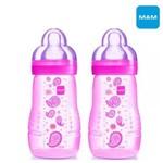 Kit 2 Mamadeiras Mam Easy Active Fashion Rosa 270ml 4848
