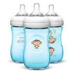 Kit 3 Mamadeiras Pétala Macaco Pack 260ml Avent
