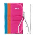 Kit Manicure Ricca 2 em 1 com Estojo Kit Manicure Ricca 2 em 1 com Estojo