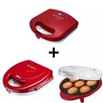 Kit Máquina Cupcake + Crepeira + Máquina Waffle Cadence 127v
