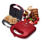 Kit Máquina Waffle + Máquina Cupcake Cadence Vermelho 127 V
