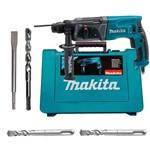 Kit Martelete Combinado SDS PLUS HR2470-Makita + Brocas SDS P/Concreto 5, 6 e 10 Mm + Talhadeira SDS