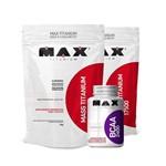 Kit 2 Mass Titanium 3kg + Bcaa 2400 100 Caps - Max Titanium