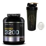 Kit MASSA 3200 3KG Chocolate + Coqueteleira 600ml com Mola