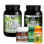 Kit Massa Muscular Vegana Pea + Rice Protein Unilife