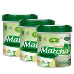 Kit 3 Matcha Termo Fit com Stévia Instantâneo Sabor Limão 660g Unilife