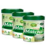 Kit 3 Matcha Termo Fit com Stévia Instantâneo Sabor Limão