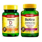 Kit Maxinutri Vitamina D + Biotina Firmeza Crescimento - 60 Cápsulas