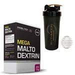 Kit MEGA MALTO DEXTRIN 1KG Guarana com Açai + Coqueteleira 600ml com Mola