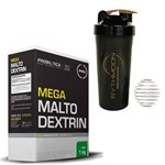 Kit MEGA MALTO DEXTRIN 1KG Limao + Coqueteleira 600ml com Mola