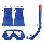 Kit Mergulho com Snorkel Infantil - Azul