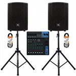 Kit Mesa de Som 10 Canais Mg10 Yamaha + Caixa Acústica + Acessórios