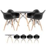 KIT - Mesa Eames 100 Cm + 4 Cadeiras Eames DAW - Preto