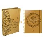 Kit Meu Plano Perfeito + Bíblia da Mulher de Fé - Capas Luxo Dourada