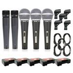 Kit Microfone Arcano 2 Renius-7 + 3 Renius-8 Cabo Xlr-p10